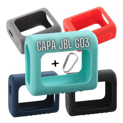 Capa P/ Jbl Go3 Silicone Capinha Proteção  Go 3 Case+ Brinde