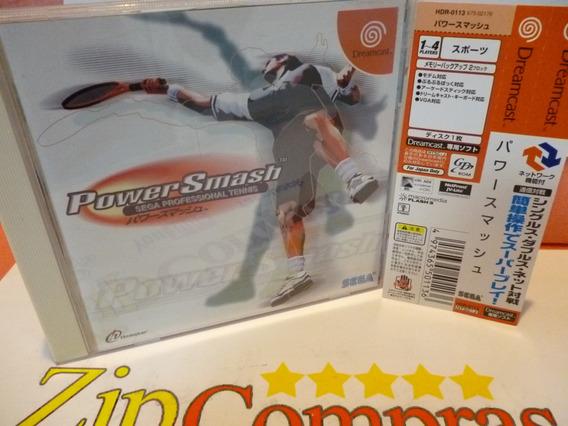Power Smash Sega Dreamcast Spine Card Japan
