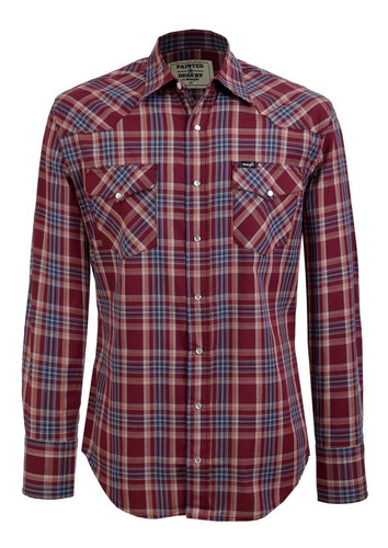 Camisa Vaquera Wrangler Painted Desert De Hombre U18
