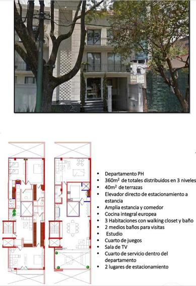 Rento Penthouse En Polanco Esquina Con Reforma