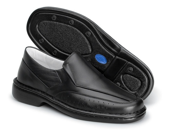 Sapato Em Couro Legítimo Antistress-conforto - Masculino1751