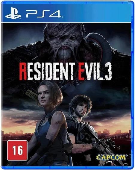 Resident Evil 3 Ps4 Mídia Física Lacrado Envio Imediato