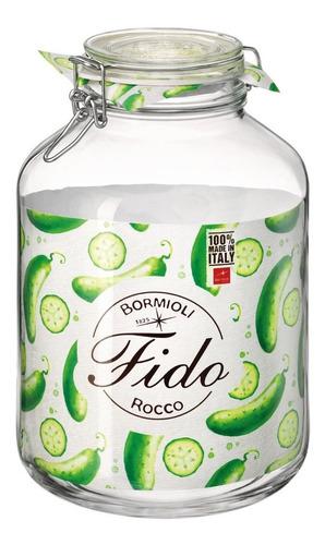 Pote Vidro Italiano Hermético Fido 5 Litros Bormioli C/ Nota