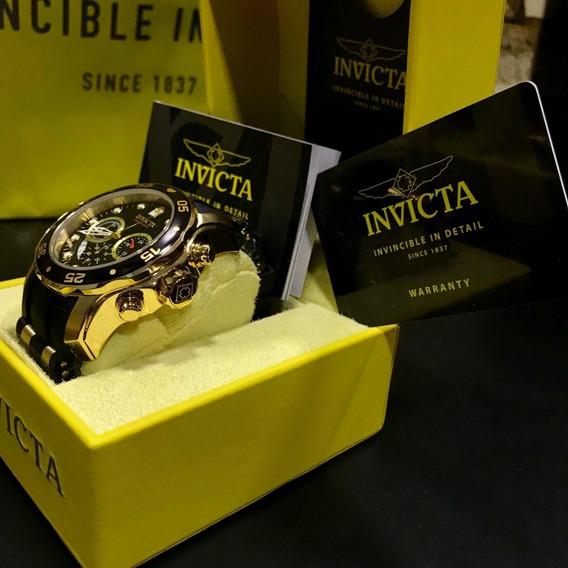 Relógio Invicta Pro Driver Banhado A Ouro 18k Modelo: 21928