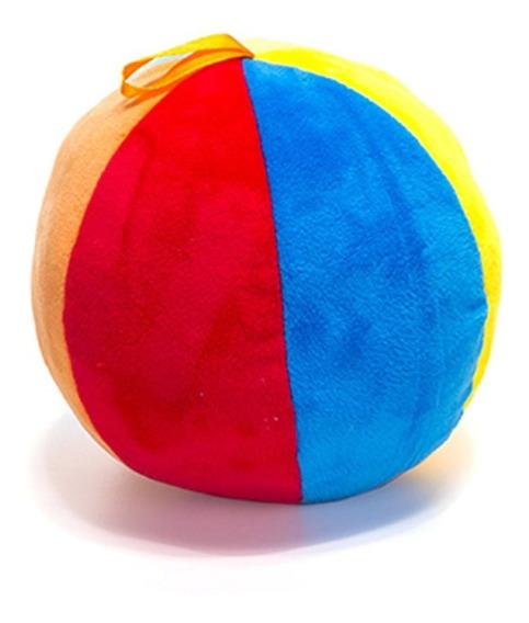 Bola Colorida Infantil Chocalho De Pelucia Fofinha Bebê