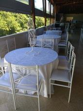 Locação De Mesas Cadeiras Tampões Toalhas Capas Freezer Fogã