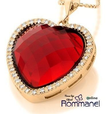 Pingente Rommanel Coração Cristal Com Zircônias 541667 Lindo