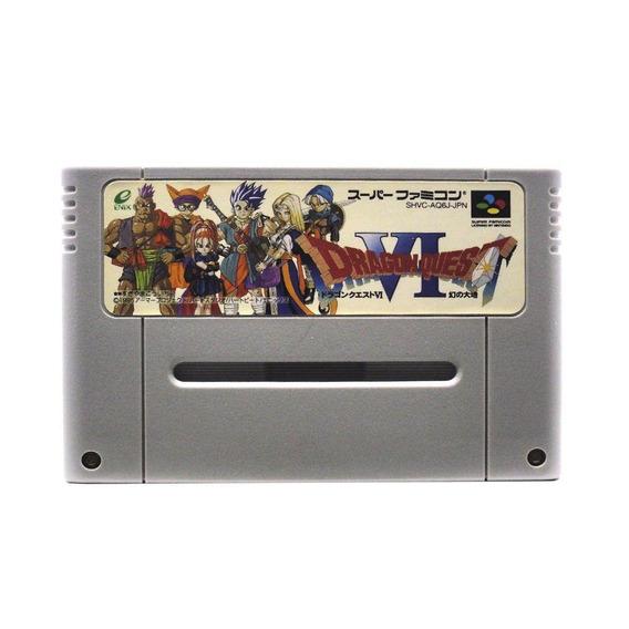Dragon Quest Vi Realms Of Revelation Snes Japonês Física