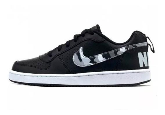 Tenis Nike Court Borough Low Negro/camuflaje Cj6939-001