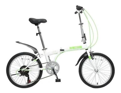 Imagen 1 de 3 de Bicicleta Plegable R 20 Folding Urbana 6 Cambios Shimano Pro
