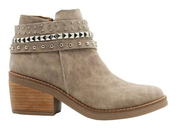 Zapatos Botas Botinetas Botitas Mujer Cuero Vison Leblu 805