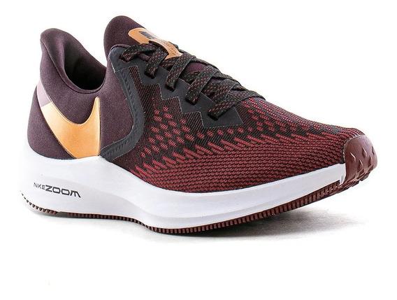 Zapatillas Running Nike Zoom Winflo 6 Bordo Mujer Aq8228-601