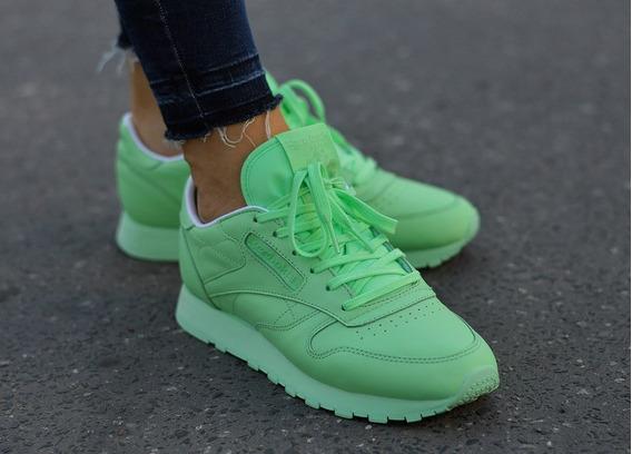 Reebok Classic Leather Pastel Verdes