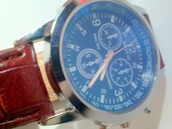 Relógio Casual Masculino Luxury Mcy-key Pulseira De Couro