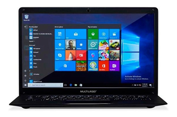 Notebook Multilaser Legacy Intel N3350 4gb 32gb Pc209 Windows 10 Pro Original Nota Fiscal Garantia Oferta Outlet Loi