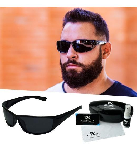 Óculos De Sol Polarizado Preto Esportivo Masculino Izaker