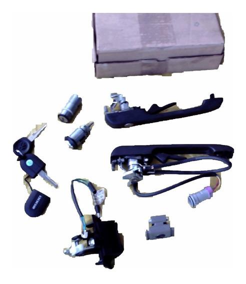 Chave Com Luz Kit Vw Santana Quantum 92 02 Maçaneta C Sensor