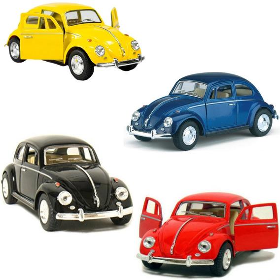 Kit 4 Miniatura Coleção Volkswagen Fusca Antigo Ano 1967