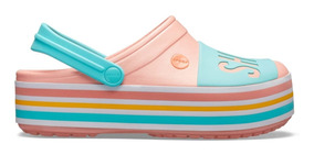 Sandalia Crocs Dama Platform Bold Color Clog Melón