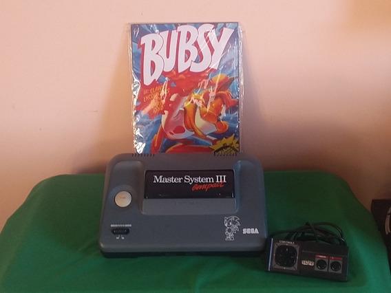 Master System 3 Compact C/ Sonic Na Memória E Controle Origi