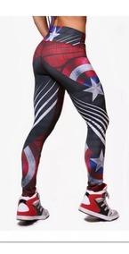 Leggins Compresión Marvel Avengers Endgame Capitán América