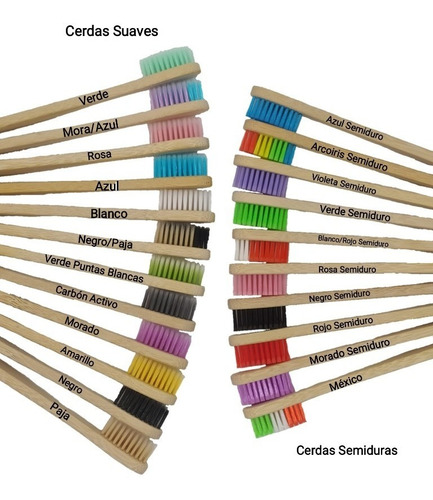 Imagen 1 de 3 de  Cepillos De Dientes Biodegradables De Bambú 001