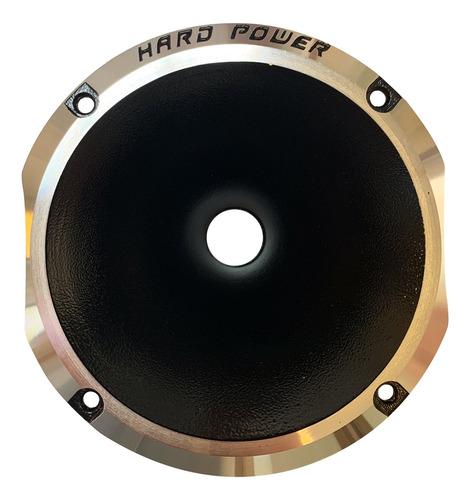 Imagen 1 de 5 de Corneta Hard Power A Rosca 1 Pulgada Negra Metal Hp1425