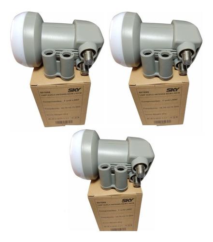 Imagem 1 de 7 de 3 Unidades Lnb Duplo Universal Banda Ku Digital