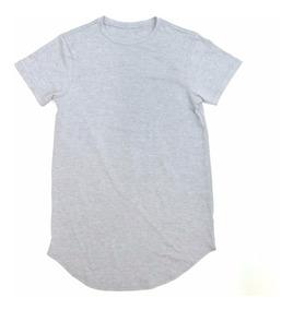 Camiseta Oversized Longline Redonda Infantil - 2 A 16 Anos