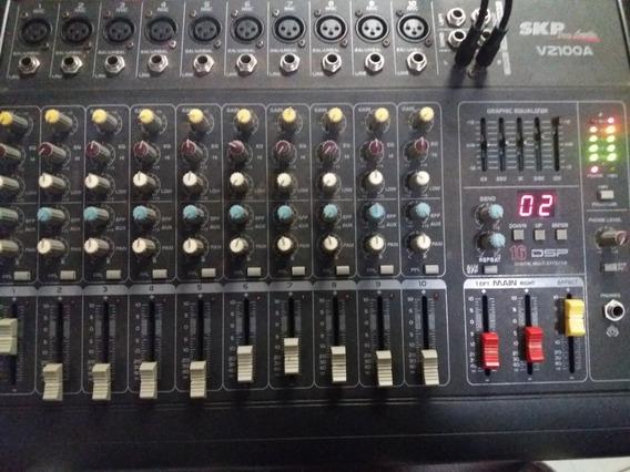 Mesa De Som Amplificada Skp Vz100a