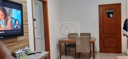 Apartamento Com 2 Dormitórios, 1 Suíte, 1 Vaga Demarcada À Venda, 70 M² Por R$ 390.000 - Campo Grande - Santos/sp - Ap10372
