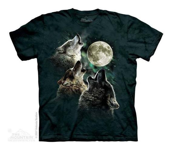 Camiseta The Mountain 3d - 100% Algodão - Lobos Uivando