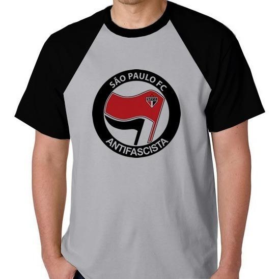 Camiseta Raglan Camisa Blusa Antifascista São Paulo Futebol