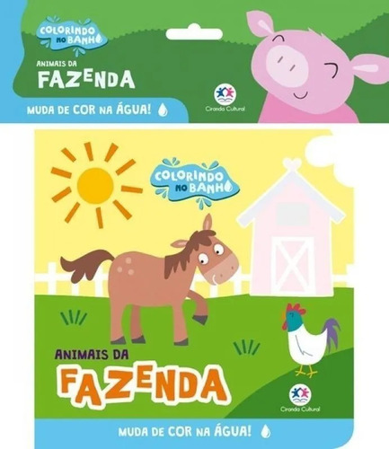 Livro De Banho Colorindo No Banho Animais Da Fazenda Ciranda