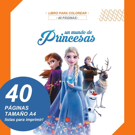 Libro Para Pintar Princesas Imprimible Colorear Imprimir