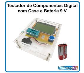 Testador Componentes Capacímetro Esr Lcr-t4 + Case + Bateria