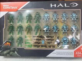 Halo, Mega Construx, Faithful Vs Fallen, 1 Set De 20 Figuras
