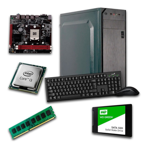 Computadora Intel Core I3 2.2ghz 8gb Ddr3 Ssd240gb W10