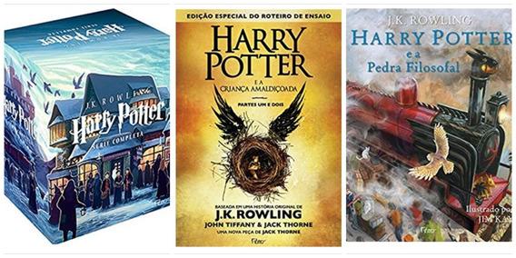 Box Coleção Harry Potter Completa 8 Livros + Pedra Filosofal