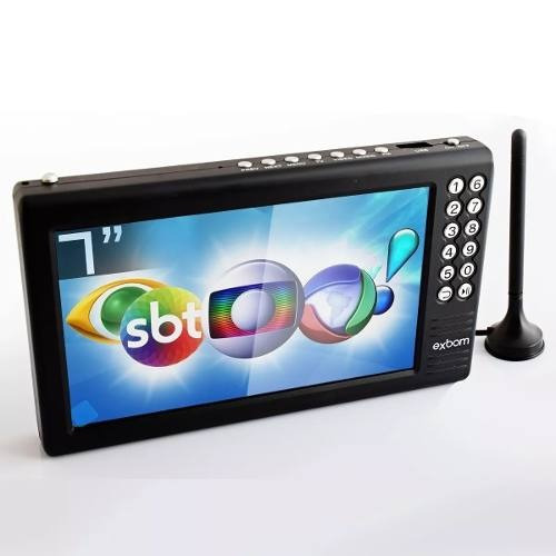 Mini Tv Digital Portátil 7 Hd E Sd Antena Amplificada