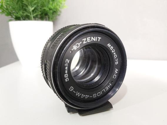Lente Fotográfica - Helios 44m-6 58mm 1:2