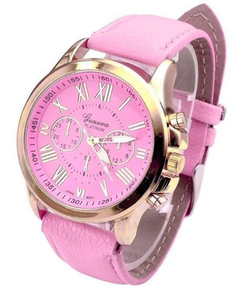 Relógio Feminino Geneva Couro Sintético