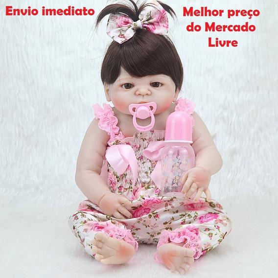 Boneca Reborn Toda Em Silicone 57cm P Entrega Npk Original