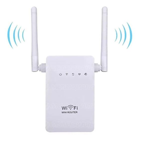 Roteador E Repetidor 300mbps 2 Antenas Amplificador Wireless