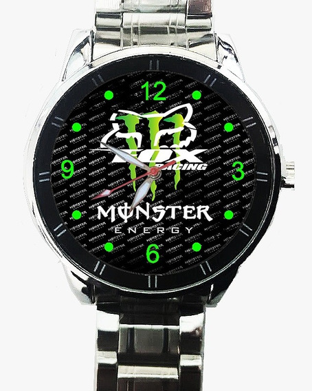 Relogio Fox Monster Pulseira De Metal