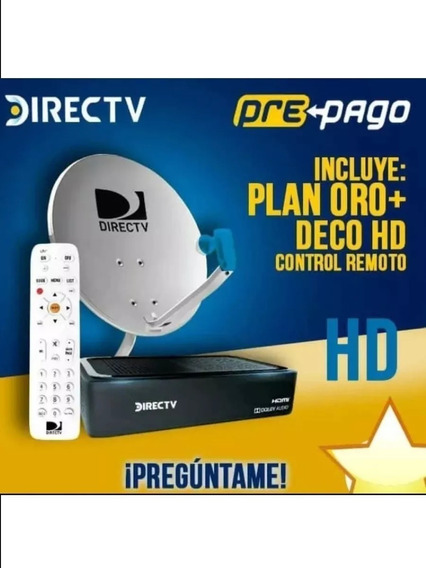 Decodificador Directv Prepago Hd Y Sd, Plan Oro Yrenta En Bs