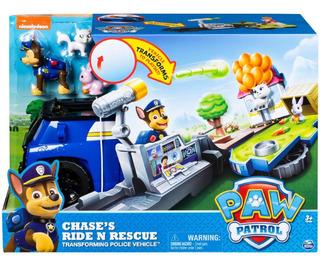 Paw Patrol Chase Vehículo Con Figuras Y Lanzador Caffaro 604