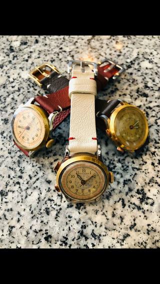 Reloj Cronostop Militar Suizo De Los Años 40s