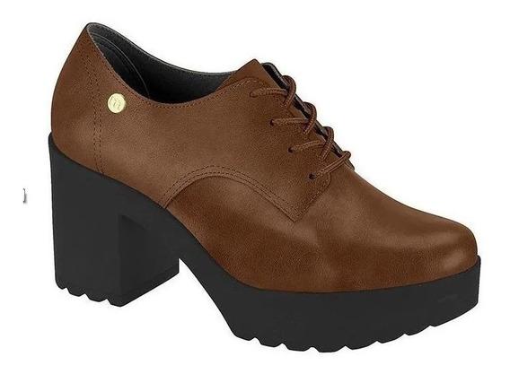 Sapato Oxford Moleca Salto Tratorado Preto 5647211 Feminino