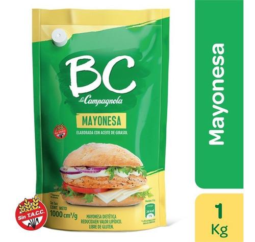 Imagen 1 de 1 de Mayonesa Bc Girasol Diet X 1000 Cc/g Aderezo